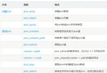 Mysql对json数据进行查询及修改